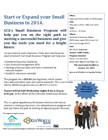 #Gwinnett Small Business Program